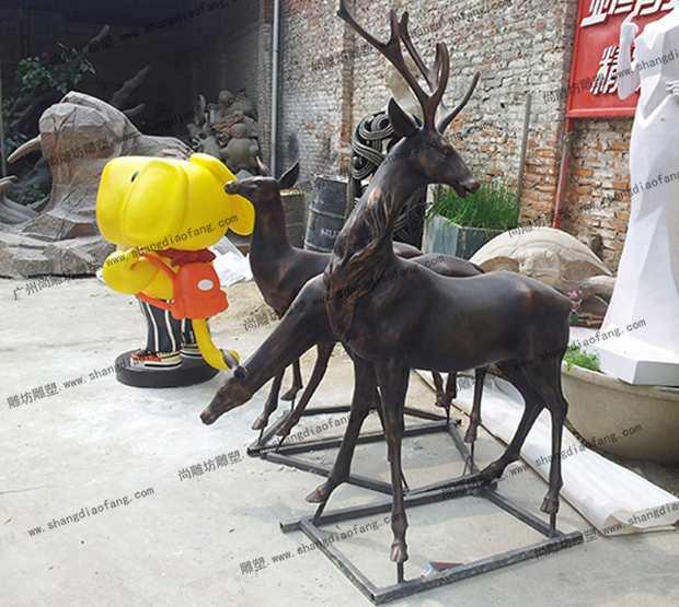 仿铜鹿雕塑2