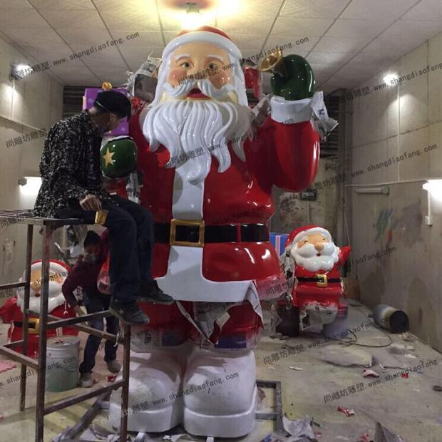 三米的高大型玻璃钢圣诞老人雕塑