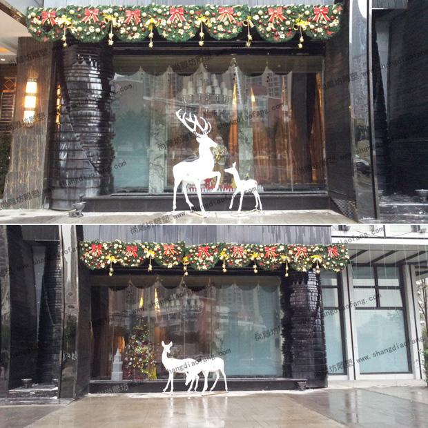 重庆北辰酒店装饰玻璃钢彩绘鹿雕塑图四