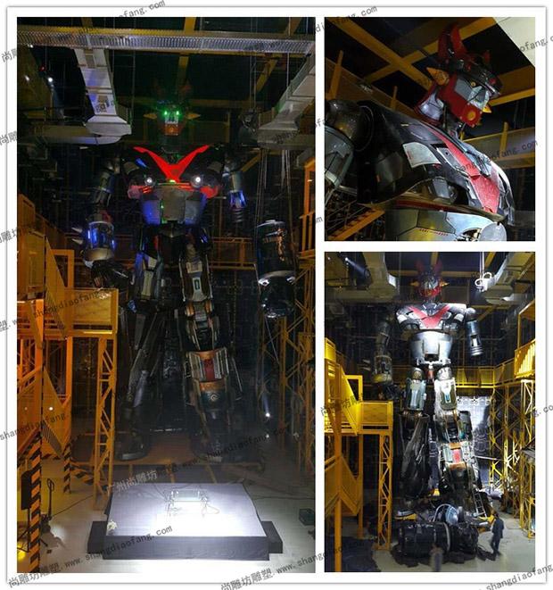 13米高的大型玻璃钢机器人